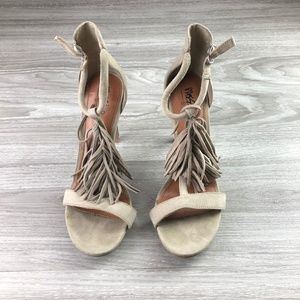 Mossimo Faux Suede Fringe Heels